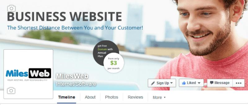 MilesWeb Facebook Page, Facebook
