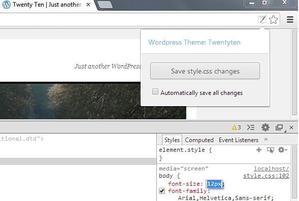Chrome Extensions - WordPress Style Editor