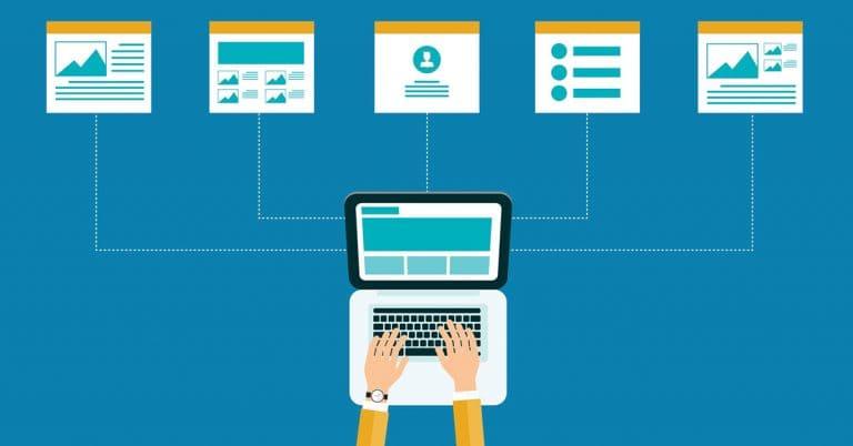 web design, large website