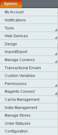 Magento System Configuration