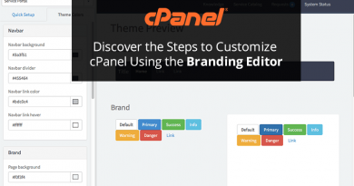 Discover the Steps to Customize cPanel Using the Branding Editor