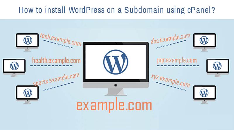 WordPress to Subdomain