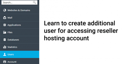 Learn to Create Additional User for Accessing Reseller Hosting account