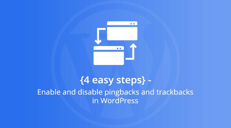 Pingbacks and Trackbacks in WordPress