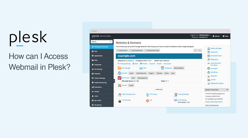 webmail using Plesk