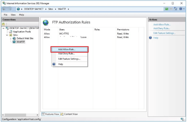 Learn to create multiple FTP accounts on Windows 10 - Web Hosting